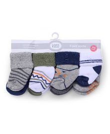 Luvable Friends Terry Sock 8 Pair - Multicolor