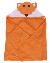 Luvable Friends Animal Hooded Towel - Orange