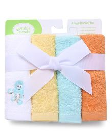 Luvable Friends Octopus Design Set Of 4 Wash Cloth - Multicolor