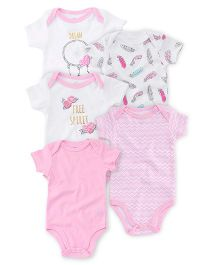 Luvable Friends Bodysuit Pack of 5 - Multicolor