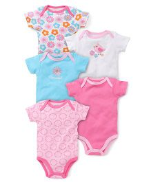 Luvable Friends Bodysuit 5Pk - Multi - 9 M