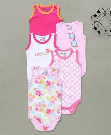 Luvable Friends Sleeveless Bodysuit Pack  - Pink