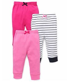Luvable Friends Pack Of 3 Pajama Pants - Pink & Black