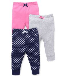 Luvable Friends Pack Of 3 Pajama Pants - Multicolor