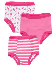 Luvable Friends Training Pants Pack Of 3 - Pink
