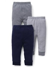 Luvable Friends Pack Of 3 Pajamas - Grey