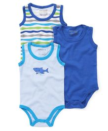 Luvable Friends Sleeveless Onesie - Blue