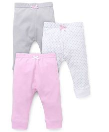 Luvable Friends Pack Of 3 Pajama Pants - Pink