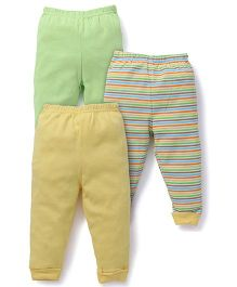 Luvable Friends Pack Of 3 Pajama Pants - Yellow