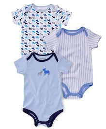 Luvable Friends Pack Of 3 Bodysuit - Multi