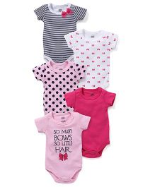 Luvable Friends Pack Of 5 Bodysuits - Multi
