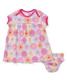 Hudson Baby Floral Dress & Bloomer - Pink
