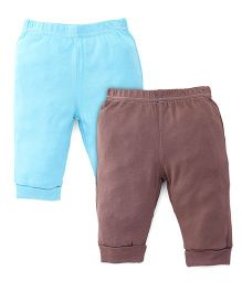 Hudson Baby Pants With Pocket Pack of 2 - Blue & Brown
