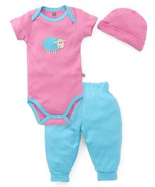 Hudson Baby Bamboo Animal Layette Set - Pink