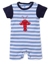 Hudson Baby Lobster Romper - Blue & Black