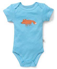 Hudson Baby Fox Print Bodysuit - Blue