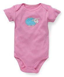 Hudson Baby Bamboo Sheep Bodysuit  - Pink