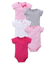 Hudson Baby Pack Of 5 Bodysuits - Pink