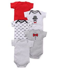 Hudson Baby Gentleman Pack Of 5 Bodysuits - Multicolor