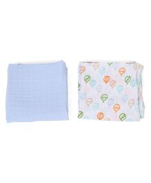 Hudson Baby Muslin Swaddle Blankets - White
