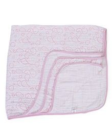 Hudson Baby Muslin Swaddle Blanket - Pink