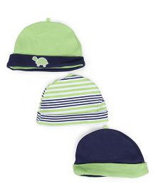 Yoga Sprout Set Of 3 Caps - Green
