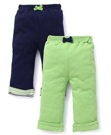 Yoga Sprout Pack Of 2 Capris - Green & Blue