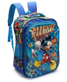Disney Mickey Mouse Print Back Pack Blue - 17 inch