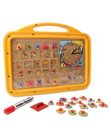 Funworld 3 In 1 ABC Puzzle Slate Shape O Mag Print - Yellow