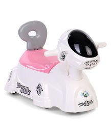 Shadilal 2 In 1 Musical Potty Chair And Ride On - White Pink