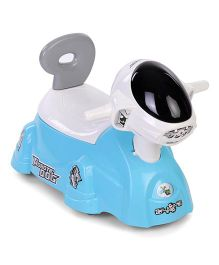 Shadilal 2 In 1 Musical Potty Chair And Ride On - White Blue