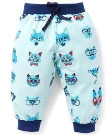 Mini Taurus Track Pant Cat Print - Blue