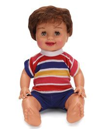 Speedage Mannu Doll In Stripe Shirt And Plain Shorts Multicolor - 21.5 cm