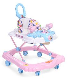Toyzone Musical Baby Walker With Printed Seat - Pink White