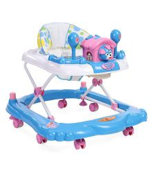 Toyzone Baby Walker With Dog Toy - Blue White