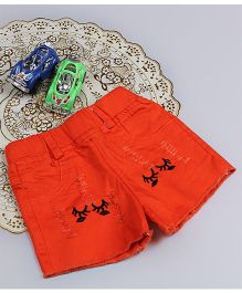 Aww Hunnie Eyes Style Rage Summer Shorts - Orange