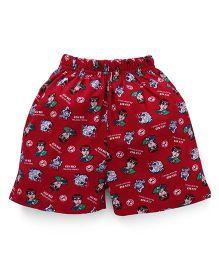 Ben 10 Printed Shorts - Dark Red