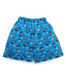 Ben 10 Shorts Printed - Blue