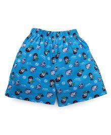 Ben 10 Shorts Printed - Blue