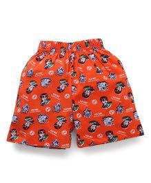 Ben 10 Printed Shorts - Orange