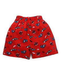 Justice League Printed Shorts - Red