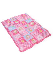 Little's Baby Quilt Teddy Print - Pink