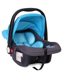 Sunbaby Canopied Carry Cot Cum Car Seat - Blue Grey
