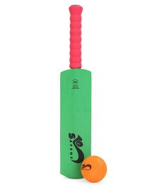 SafSof Cricket Bat And Ball - Green And Orange