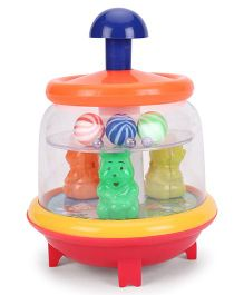 Lovely Push N Spin Toy - Multi Color