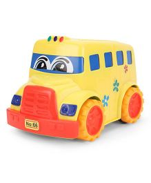 Lovely Friction Powered School Bus - Yellow Orange