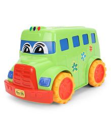 Lovely Friction Powered School Bus - Green Red