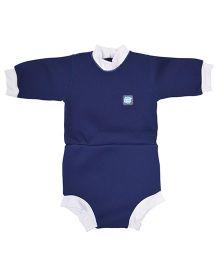 Splash About Full Sleeve Onesie Style Swim Suit - Navy Blue