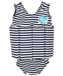 Splash About Float Suit With Stripe Print - Black & White