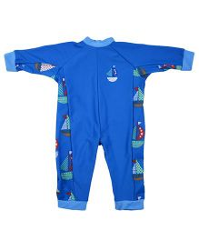 Splash About Uv All In One Set Sail Swim Suit - Blue